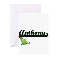 Anthony Classic Name Design with Di Greeting Cards