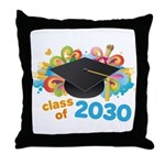 Class Of 2030 Graduation Party Throw Pillow