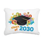 Class Of 2030 Graduation Rectangular Canvas Pillow