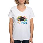 Class Of 2030 Graduation Pa Women's V-Neck T-Shirt