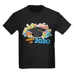 Class Of 2030 Graduation Party Kids Dark T-Shirt