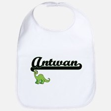 Antwan Classic Name Design with Dinosaur Bib