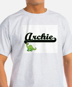 Archie Classic Name Design with Dinosaur T-Shirt