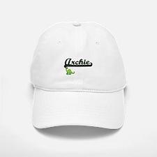Archie Classic Name Design with Dinosaur Baseball Baseball Cap