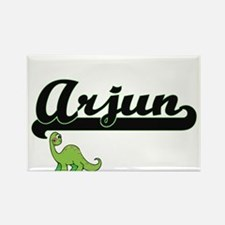 Arjun Classic Name Design with Dinosaur Magnets