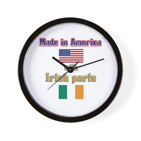 Made in American with Irish p Wall Clock