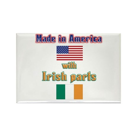 Made in American with Irish p Rectangle Magnet (10