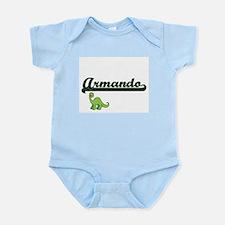 Armando Classic Name Design with Dinosau Body Suit