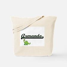 Armando Classic Name Design with Dinosaur Tote Bag