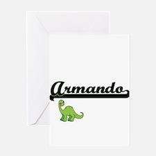 Armando Classic Name Design with Di Greeting Cards