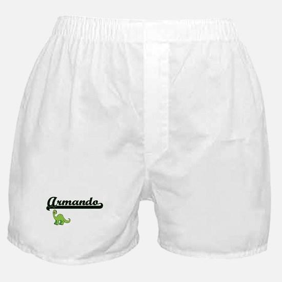 Armando Classic Name Design with Dino Boxer Shorts