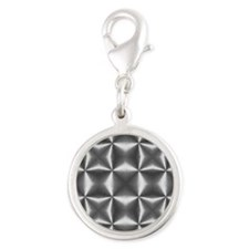 silver geometric pattern industrial Charms