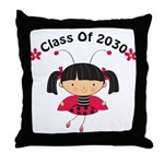 Class of 2030 ladybug Throw Pillow