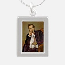 Lincoln-WireFoxT Silver Portrait Necklace