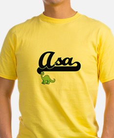 Asa Classic Name Design with Dinosaur T-Shirt
