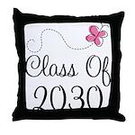 Class Of 2030 butterfly Throw Pillow