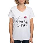 Class Of 2030 butterfly Women's V-Neck T-Shirt