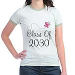 Class Of 2030 butterfly Jr. Ringer T-Shirt