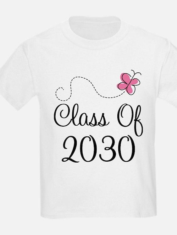 Class Of 2030 butterfly T-Shirt