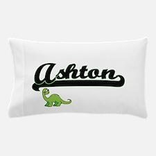 Ashton Classic Name Design with Dinosa Pillow Case