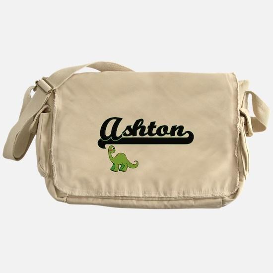 Ashton Classic Name Design with Dino Messenger Bag