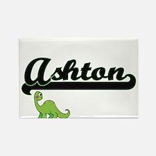Ashton Classic Name Design with Dinosaur Magnets