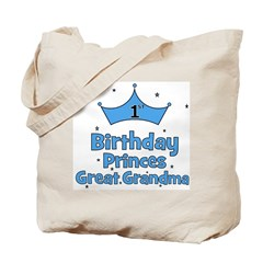 1st Birthday Princes Great Gr Tote Bag
