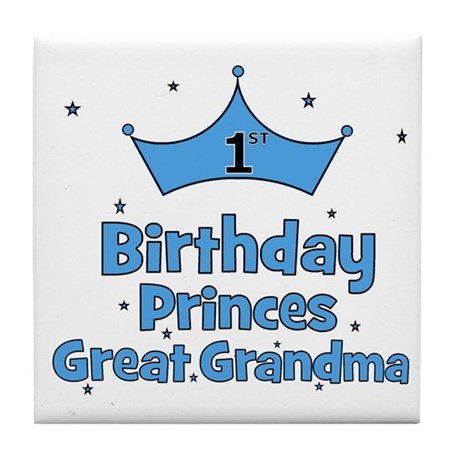 1st Birthday Princes Great Gr Tile Coaster