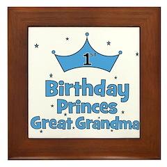 1st Birthday Princes Great Gr Framed Tile