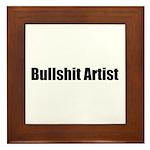 Bullshit Artist Framed Tile