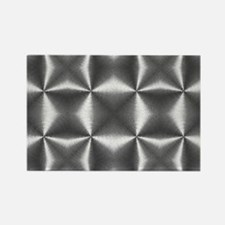 silver geometric pattern abstract Magnets