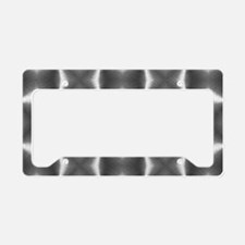 silver geometric pattern abst License Plate Holder