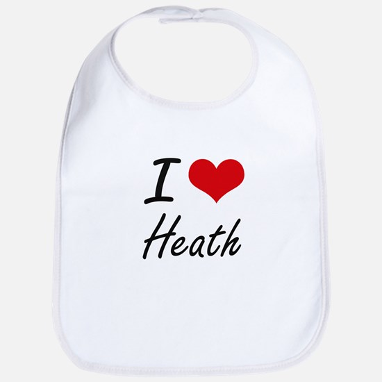 I Love Heath Bib