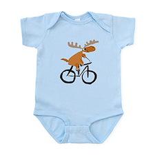 Moose Riding Bicycle Body Suit