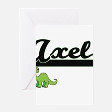 Axel Classic Name Design with Dinos Greeting Cards