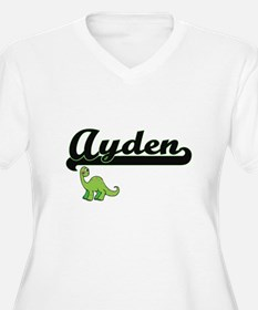 Ayden Classic Name Design with D Plus Size T-Shirt