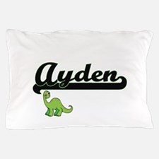 Ayden Classic Name Design with Dinosau Pillow Case