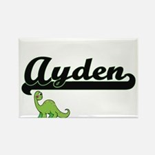 Ayden Classic Name Design with Dinosaur Magnets