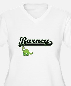 Barney Classic Name Design with Plus Size T-Shirt