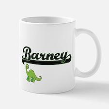 Barney Classic Name Design with Dinosaur Mugs