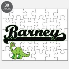 Barney Classic Name Design with Dinosaur Puzzle