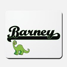 Barney Classic Name Design with Dinosaur Mousepad