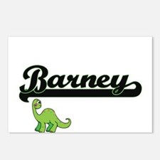 Barney Classic Name Desig Postcards (Package of 8)