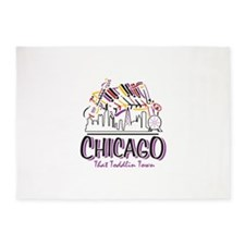 Chicago That Toddlin Town 5'x7'Area Rug