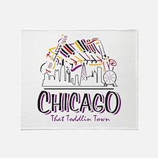 Chicago That Toddlin Town Throw Blanket