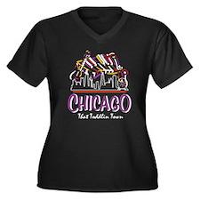 Chicago That Women's Plus Size V-Neck Dark T-Shirt