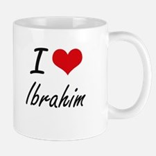 I Love Ibrahim Mugs