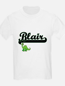 Blair Classic Name Design with Dinosaur T-Shirt