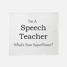 Speech Teacher Throw Blanket