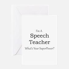 Speech Teacher Greeting Cards